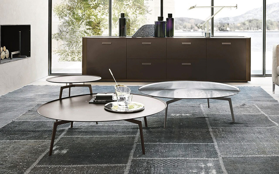 Alivar T-Gong Bronze Satin Coffee TableS  price upon request, Home Resource, 741 Central Ave., Sarasota, 941-366-6690, @homeresourcefurniture, homeresource.com.